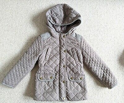 Girls Spring mid weight Jacket/Coat 4-5 with hood. Great Condition.Taupe,Glitter
