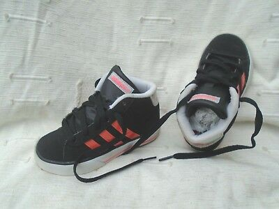 Young Girls Adidas Neo Label Black/Pink Uk Size 10K Trainers