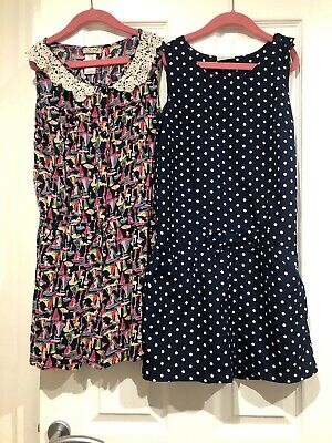 Next girls  short playsuits x 2 age 11 years