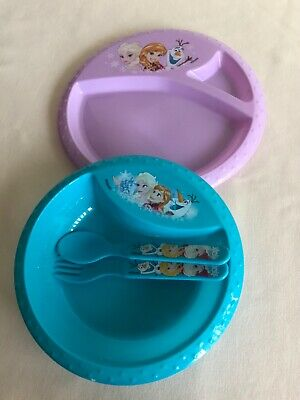 Frozen Bowl,Plate,Spoon And Fork