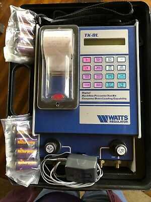 Watts TK-DL Computerized Digital Print-Out Test Kit for Backflow Prevention