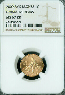 2009 Lincoln Cent Formative Years Ngc Ms67 Rd Sms  .