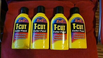 4 X T-Cut Yellow Color Fast 3in1 Paintwork Scratch Remover Restorer Car Polish