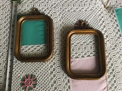 Matching Pair of Vintage Gold Wooden Photo Or Picture Frames