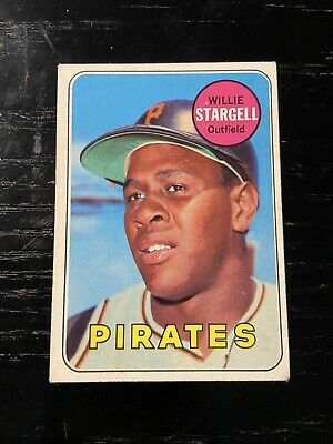 1969 Topps Willie Stargell # 545 Pittsburgh Pirates Baseball Card MLB HOF
