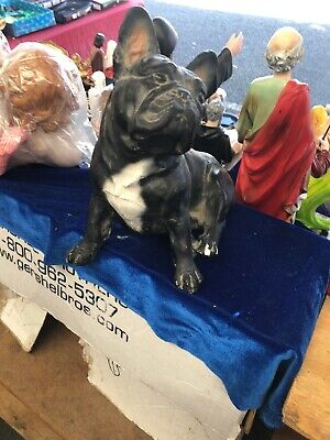 Antique Cast Iron Standing Pug Puppy Dog Home Statue Sculpture Figurine Ornament