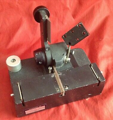 Vintage QTS EDIQUIP 35mm Motion Picture Straight Cut Film Splicer (NR)