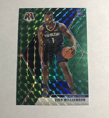 2019-20 Panini Mosaic Green Zion Williamson Rookie Card RC Prizm Gradeable #209