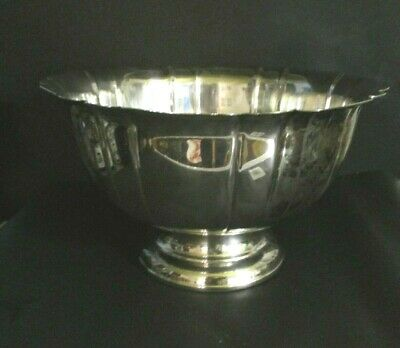 Vintage Extra Large Gorham Silver Plate  Footed Punch Bowl / Centerpiece
