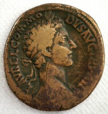 177-192 AD Roman Commodus Large Bronze Ancient Coin Rome Sestertius YG