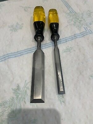 2 X Stanley Bevel Edged Chisels