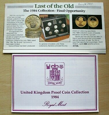 """GB – 1984 Proof Set – Royal Mint – """"Last of the Old"""" – Perfect FDC (Je2)"""