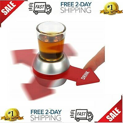 Original Spin the Shot Fun Party Drinking Game Includes 2 Ounce Shot Glass NEW
