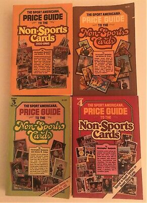 1981-92 Sport Americana Price Guide NON-SPORTS CARDS LOT of 4 ESSENTIAL BOOKS
