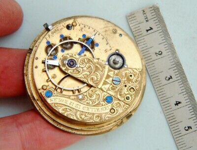 Watchmaker Fusee pocket watch movement early Liverpool windows Parts or spares