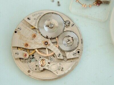 Watchmaker Waltham Vanguard pocket watch movement  parts only  Parts or spares