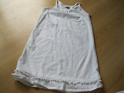 River Island Soft White Strappy Dress Age 11/12 Year 100% Cotton