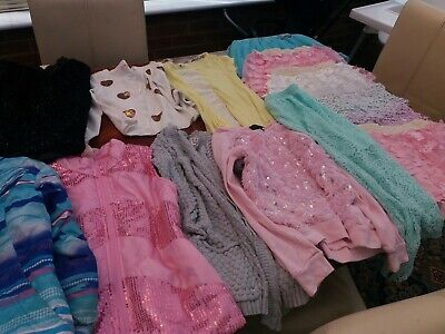 Bundle of Girls Clothes Age 7-8 years Skirts Shorts Top Cardigan Gillet Coat