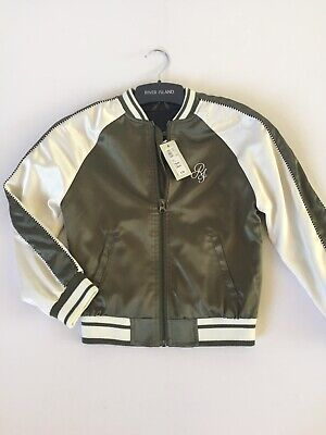 River Island Girls Baseball Bomber Jacket.  Age 7-8yrs. Brand New RRP £30.