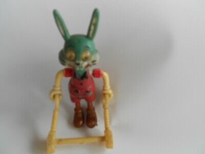 vintage small  Celluloid Rabbit toy moveable with googly eyes made Hong Kong
