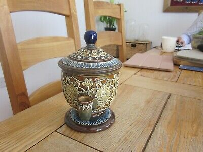 Excellent Condition Doulton Artware Isobath Stoneware Inkwell Ink Well