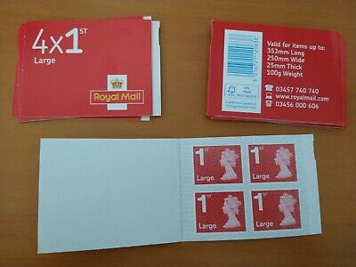 Royal Mail 1st Class Large Letter Postage Stamps 1 x 4 (Stamps) Pack First Class
