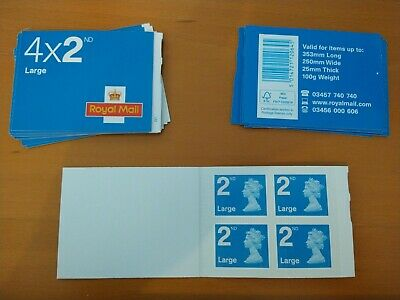 Royal Mail 2nd Class Large Letter Postage Stamps 1 x 4(Stamps) Pack Second Class