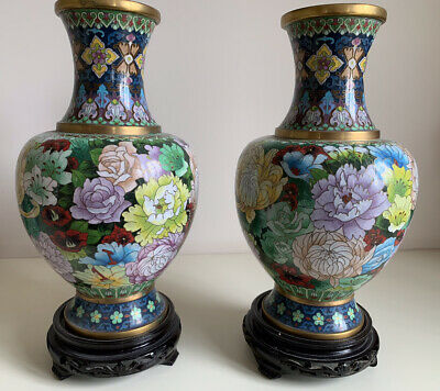 Pair Of  Chinese Metal Vases