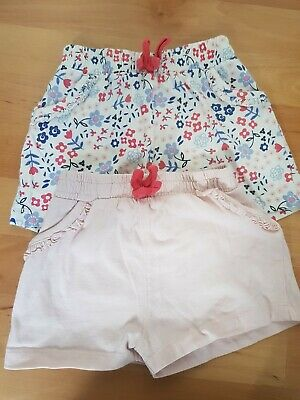 2 Pairs Of Girls Shorts Age 3-4yrs