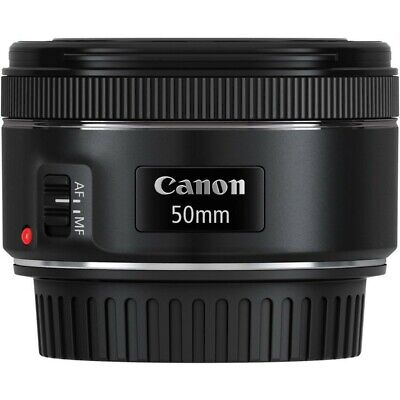 Canon EF 50mm F/1.8 STM DSLR Lens with lens hood