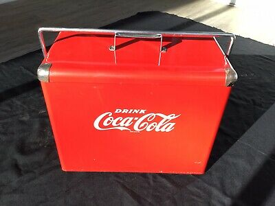 1954 Original Vintage Coca Cola Picnic Cooler with Sandwich Tray