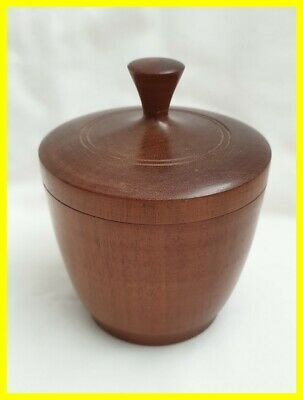 A Nice Turned Walnut Wooden Jar With Lid