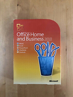 Microsoft Office Home And Business 2010 UK Retail Box DVD incl Microsoft Outlook