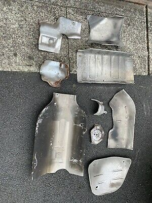Mercedes 300SL R129 Exhaust Manifold Heat Shields Complete Set Excellent!