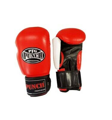 Boxing glove cowhide leather