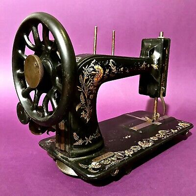1906 Ottoman Carnation Decorated Antique Singer 48K Sewing Machine Not Complete