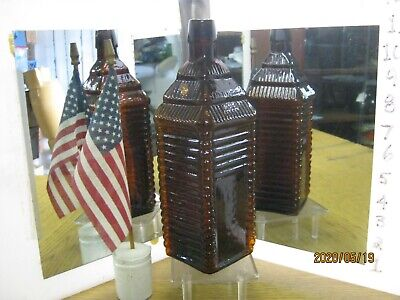 ~Museum Quality~Flaming Orange Amber~St.drakes 6 Log Plantation Cabin Bitters