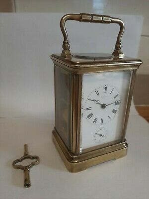 Beautiful Vintage French Carriage Clock,  T.R Russell, Paris