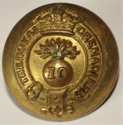 WWI 10th Regiment Royal Grenadiers Canada Large Button RRC CEF Firmin & Sons Ld