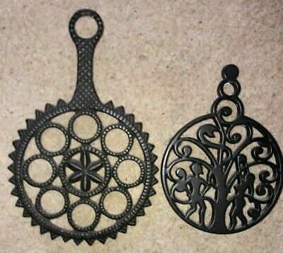 Black Cast Iron Round Trivets/Pot Stands/Protector