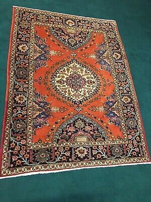 """Antique Handmade Authentic  Collector's Oriental wool Rug 6' x 4' 8"""""""