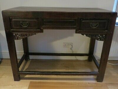 Antique Chinese Oriental Wood Console Table / Desk 19th Century