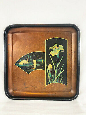 Early 1900's Advertising Tray - Japanese Iris No. 94 The Meek Co. Coshocton OH
