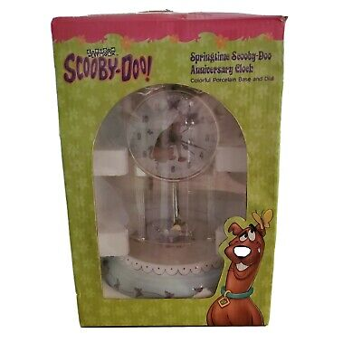 Scooby-Doo Porcelain Collectible Anniversary Clock Cartoon Network New