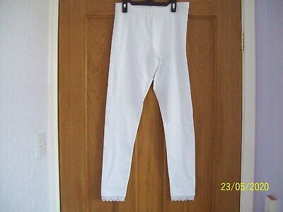Girls White Leggings with Lace at Ankles by GEORGE age 12-13 years BNWOT