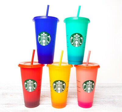 STARBUCKS - 2020 COLOR CHANGING REUSABLE COLD CUPS - 24oz - NEW - YOU CHOOSE!