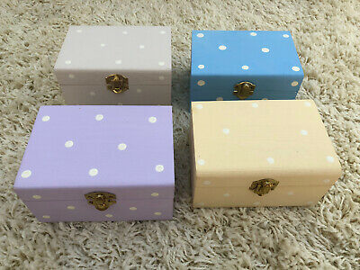 4 X Shabby Chic Style Boxes JOB LOT Craft Clear Out Overstock Trinket Jewellery