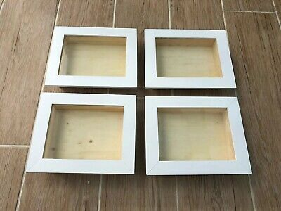 4 X Shadow Box Frames JOB LOT Craft Clear Out Overstock Deep Frames Display Box