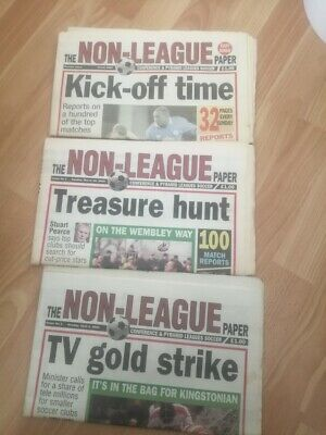 The Non-League Paper x 3 (Preview issue and numbers 1 & 2) MARCH/APRIL 2000