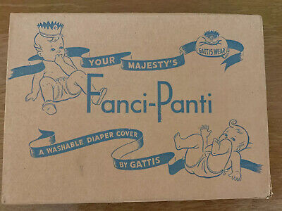 VINTAGE Empty Fanci-Panti Diaper Cover Graphics Box DIAPERS & BABY CLOTHES 1950s